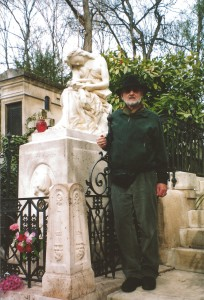 Here I am at Chopin's tomb in the Père-Lachaise Cemetery in Paris